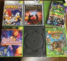 X Box Games Lot Of 6 Sonic Star Wars Ninja Turtles