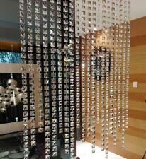 10M Crystal Square Bead Chain Hanging Door Curtain Decorative Partition Finished