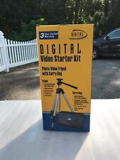 "DIGITAL CONCEPTS TRIPOD VIDEO & CAMERA Starter Kit Extends to 45"" Folds to 15"""