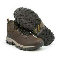 Mens Columbia Newton Ridge Boots Waterproof Hiking Boots Brown Leather NEW