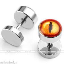 Stainless Steel Fake Cheater Ear Stud Plug Illusion Earring Piercing Monster Eye