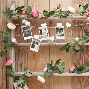 Artifical Pink peony garland, 2 metre long. 16 flower heads - CW-282