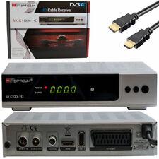 Digital HD Kabel Receiver Dvb-c OPTICUM C100 Silver Full HDTV SCART HDMI USB