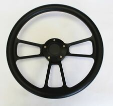 1973-1991 Honda Civic Accord Prelude Black Grip on Black Steering Wheel 14""