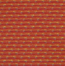 Unique Cherry Red Striped Crypton Upholstery Fabric 1245832