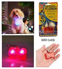 Safety LED Flasher Tag Hi Viz Dog Collar Cat Pet Visibility Lead Flashing Light