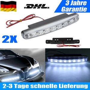 2x LED Tagfahrlicht Prüfzeichen E4 R87 Tagfahrleuchten DayLight TFL DLR 12V