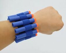 NERF N-Strike Elastic Wrist Band Soft Bullet Dart Holder Carrier + 10 Darts