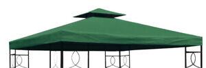 Pavillon Ersatzdach PVC - grün 3x3 m wasserdicht - Pavillondach Pavillion Dach