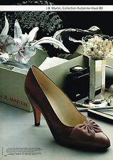 PUBLICITE ADVERTISING 025  1980  JB MARTIN  CHAUSSURES COLL  AUTOMNE HIVER