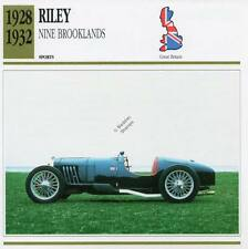 1928-1932 RILEY NINE BROOKLANDS Sports Classic Car Photo/Info Maxi Card