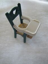 DARK GREEN BABY HIGHCHAIR FISHER PRICE Loving Family Dream Dollhouse 3.5 inches