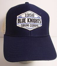 Blue Knights Drum Corps Hat Cap Trucker USA Embroidery  New   #trbk