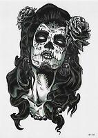 Rose Frau Tattoo Temporary Tattoo Skull Temporäre Tattoo Body Sticker 21x15