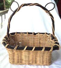 Large Square  Basket Planter Centerpiece BlackTrim