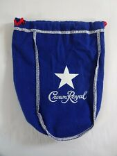 Crown Royal Texas Mesquite Blue Bag White Star LIMITED EDITION w/ Red Drawstring
