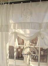 Raff Gardine LARA Offwhite 160x120 Volant bestickt LillaBelle Landhaus Shabby