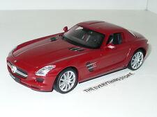 Welly Daimler Mercedes Benz Sls Amg Gull Wing Doors 1:24 Dark Red Free Ship