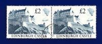 1988 SG1412 £2 Edinburgh Castle UK3 Pair Fine Used ctli