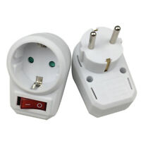 ITS- EU Plug 16A 250V Travel Switch Control Power Converter Adapter Outle