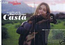 Coupure de presse Clipping 2010 Marie-Ange Casta  (4 pages)