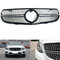 Front Grille Grill For Mercedes Benz GLC X253 GLC300 GLC350 2015-19 Diamond Look