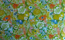 """Vintage Fabric  60s 70s Cotton by the Yard 49"""" wide New Old Stock"""