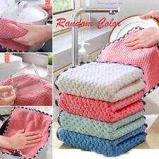 1PC Kitchen & Dining Accessories Dish Towel Coral Velvet Cloth Washing Randomly