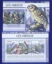 Echte Briefmarken mit Vögel-Motiven aus Guinea
