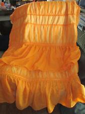 Vintage Sheer Ruffled Bedspread Coverlet Orange Li Zi Germany?  Shabby Chic