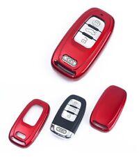Premium Chiave Alloggiamento Copertura Rosso Vernice per Audi A3 A4 A5 A6 A7 A8