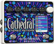 EHX ELECTRO HARMONIX CATHEDRAL STEREO REVERB GUITAR PEDAL