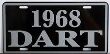 1968 68 DODGE DART METAL LICENSE PLATE 170 270 GT CONVERTIBLE 273 340 383 GTS