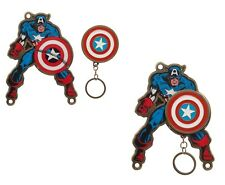 Captain America Shield Keychain Key Holder with Magnetic Fastener Wall Mounted