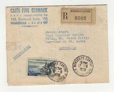 France 1 timbre sur lettre R 1958 tampon Marseille Cantini /L444