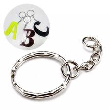 15pcs DIY Polished Silver Keyring Keychain Split Ring Short Chain Key Ring 25mm
