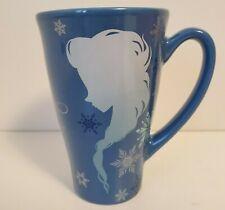 Frozen Blue Coffee Mug Keep Calm and Let it Go Anna Elsa Silhouette Disney NEW
