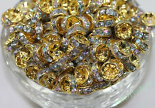 Gold Plated Spacer Loose Beads Charm Jewelry Findings Making Supplies Crafts 8mm