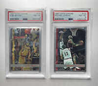 1997 Topps Chrome Kobe Bryant 2nd Year & Michael Jordan PSA 8 NM-MT Combo