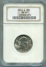 1944-D Washington Quarter *MS67 NGC*