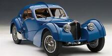 Bugatti 57S Atlantic 1938 Blu Con Ruote A Raggi In Metallo Autoart 1:18 Aa70943
