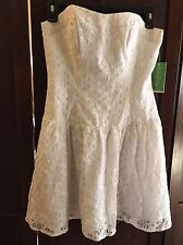 Lilly Pulitzer Tenley Dress Resort White Lace Me Up Strapless Dress 2 NWT