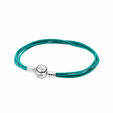 Auth Pandora Moments Teal Multi-Strand Bracelet 590715CTU-M1 SMALL Retired