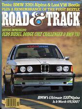 Road & Track Magazine November 1977 BMW's 320i Alpina EX 020516jhe