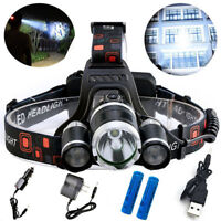 LED Headlamp Headlight Flashlight Hunting Camping Fishing Torch Light Lamp
