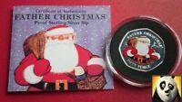 2018 GIBRALTAR Christmas Father Santa 50p Fifty Pence Silver Proof Coloured Coin
