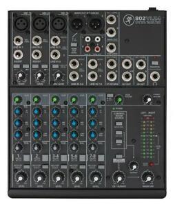 Mackie 802VLZ4 8 Kanal Kompakt Mixer Mischpult analog Headroom Low-Cut Filter