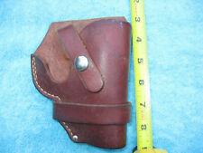 "Leather holster for short barrel revolver ""Agent"""