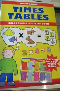 A4 Times Table colouring & Activity Book for Kids - UK STOCKIST
