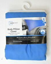 """Mainstays Body Pillow Cover Fits up to 20"""" x 54"""" Soft Brushed Microfiber"""